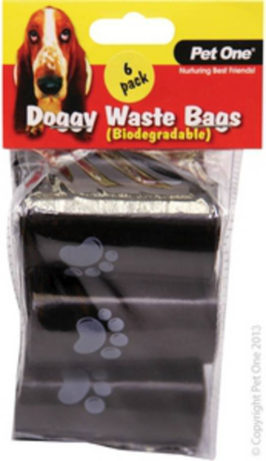 Pet One Doggy Waste Bags 6pack x 20pcs/Roll (Biodegradable)
