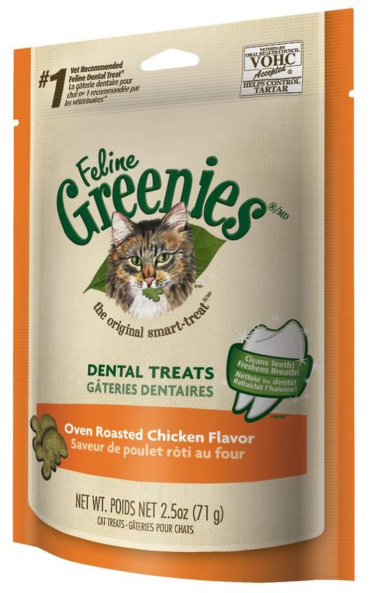 FELINE GREENIES™ Dental Treats Oven Roasted Chicken Flavor 71g
