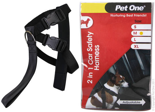 Pet One Car Safety Harness Two in One M