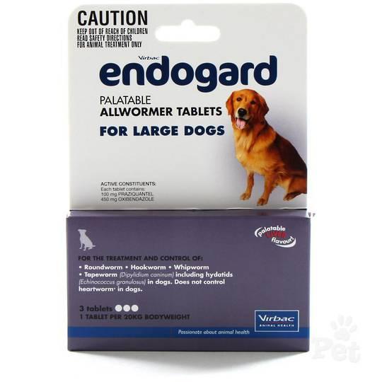 Endogard Palatable Allwormer Tablet for Dogs (20kg/3tablet)