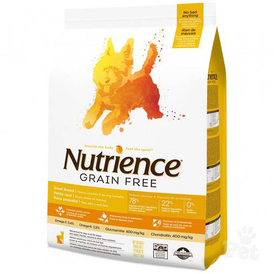 Nutrience Grain Free Turkey, Chicken & Herring Dog - Small Breed 2.5kg