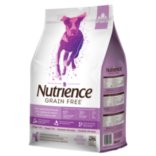 Nutrience Grain Free Pork, Lamb & Duck - Dog 2.5kg