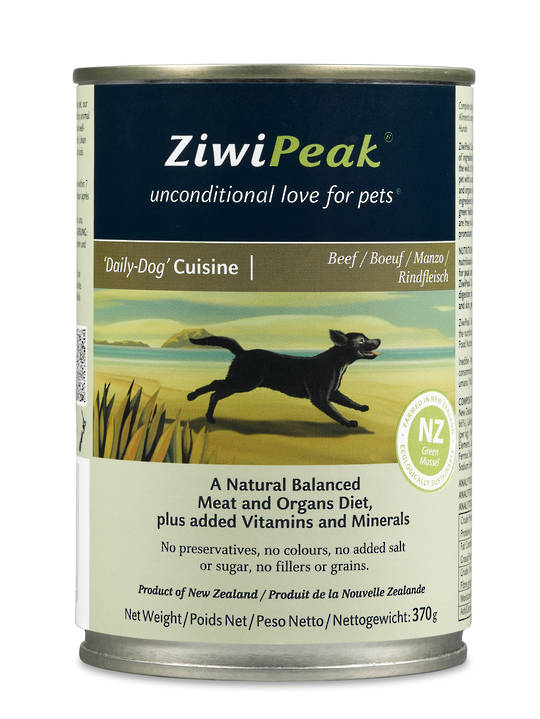 Ziwi Peak Moist Beef Dog Cuisine 370g