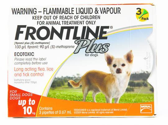 Frontline Spot-on Flea Treatment for Small Dogs (Orange / 0.67ml x 3)