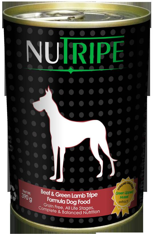 Nutripe Classic Beef & Green Lamb Tripe Formula Dog Food