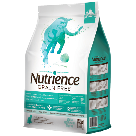Nutrience Grain Free Turkey Chicken & Duck - Indoor / Less Active / Hairball - Cat 2.5kg
