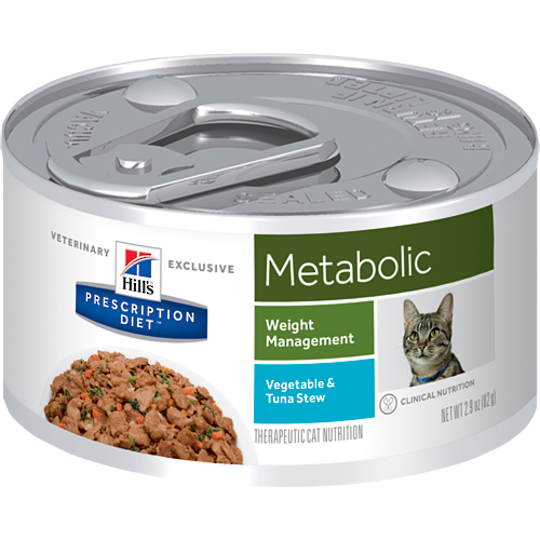 Hill's Prescription Diet Feline Metabolic Cans Tuna & Vegetable Stew for Cats 82g