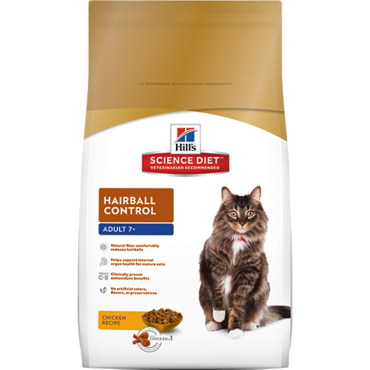 Hill's Science Diet Hairball Control for Adult 7+ Cat 4Kg