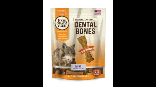 Primal Instinct Dental Bones Mini - 72pk