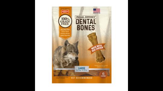 Primal Instinct Dental Bones Large - 6pk