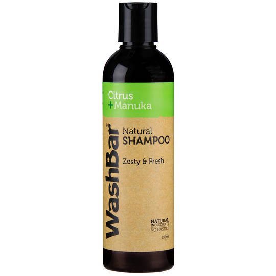 WashBar 100% Natural Shampoo - Citrus and Manuka - 250ml