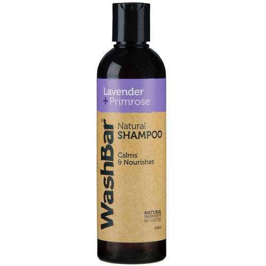 WashBar 100% Natural Shampoo Lavender and Primrose 250ml