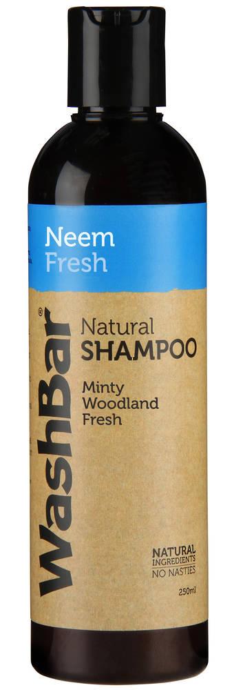 WashBar Natural Shampoo - Neem and Fresh - 250ml