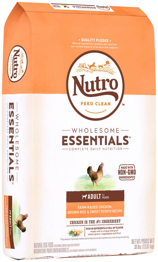 Nutro Wholesome Essential Adult Dog - Chicken, Whole Brown Rice & Sweet Potato Recipe - 13.61kg