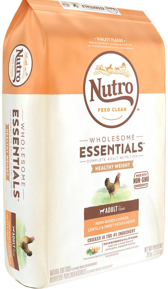 Nutro Wholesome Essential / Lite Weight Loss Adult Dog - Chicken, Whole Brown Rice & Sweet Potato Recipe - 13.61kg