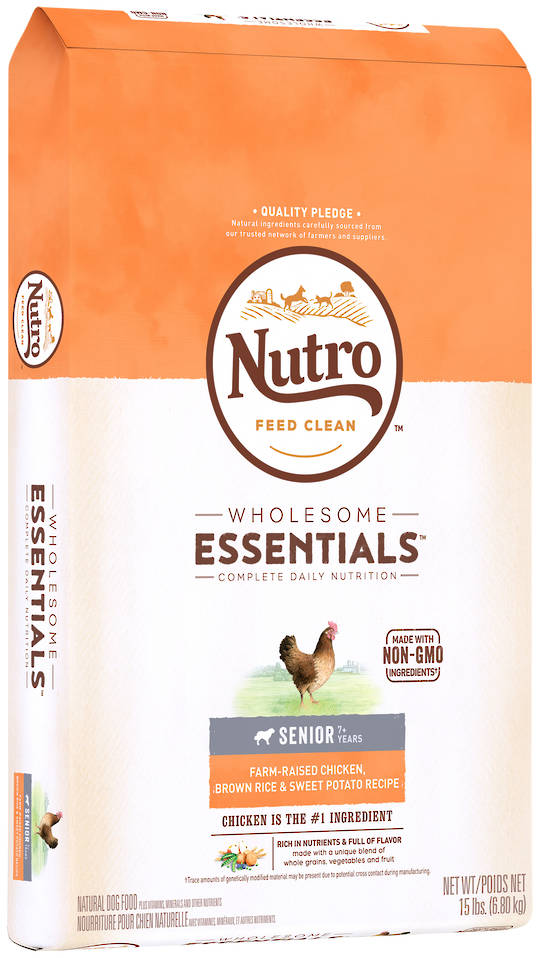 Nutro Wholesome Essential Senior Dog - Chicken, Whole Brown Rice & Sweet Potato Recipe - 6.8kg