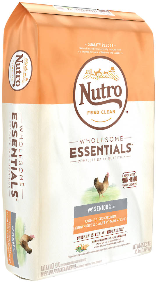 NutroWholesome Essential Senior Dog - Chicke n, Whole Brown Rice & Sweet Potato Recipe - 13.61kg