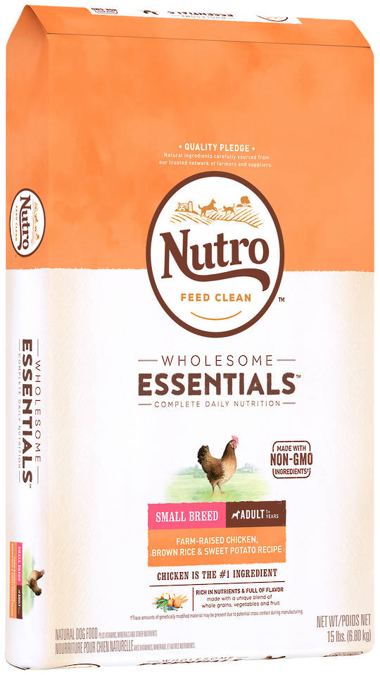 Nutro Wholesome Essential Small Breed Adult Dog - Chicken, Whole Brown Rice & Sweet Potato Recipe - 6.8kg