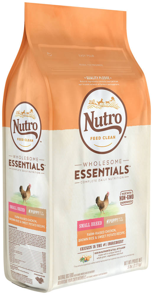 Nutro Wholesome EssentialSmall Breed Puppy Dog - Chicken, Whole Brown Rice & Sweet Potato Recipe -2.27kg
