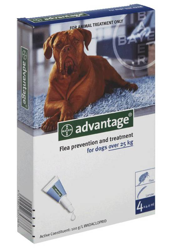 Advantage Spot-on Flea Treatment for Large Dogs (Blue / 6 pippets)