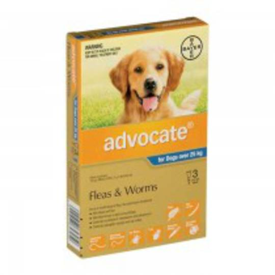 Advocate Spot-on Flea and Worm Treatment for Very Large Dogs +25kg (Blue / 3 pippets)