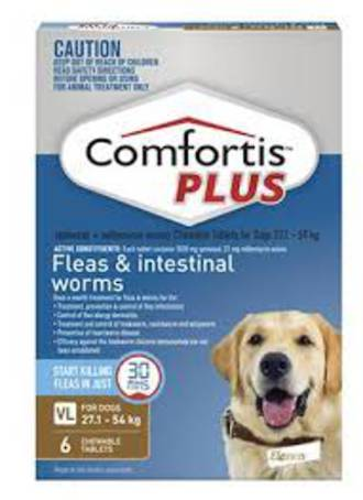 Comfortis Plus Chewable Flea  & Worm Treatment for Very Large Dogs 27.1kg - 54kg (3 pack)