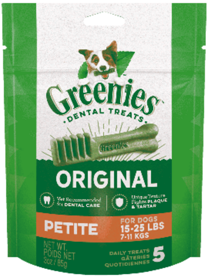 Canine Greenies™ Original Petite Dental Treats 170g / 10 Dental Chews