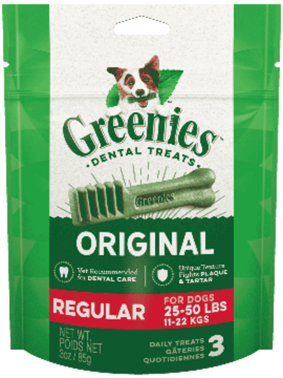 Canine Greenies™  Original Regular Dental Treats 170g / 6 Dental Chews