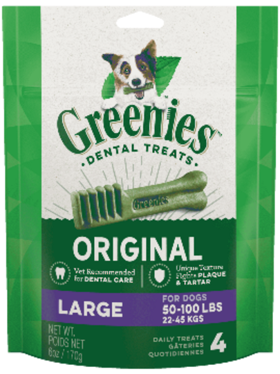 Canine Greenies™  Original Large Dental Treats 170g / 4 Dental Chews