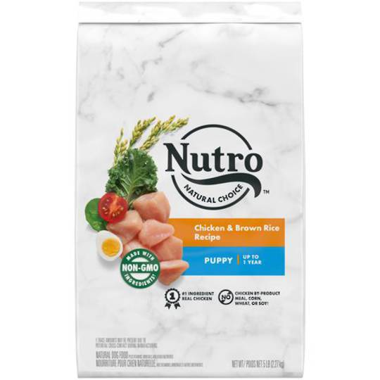 NUTRO NATURAL CHOICE Puppy Dry Dog Food, Chicken & Brown Rice  - Large Breed - 2.27kg