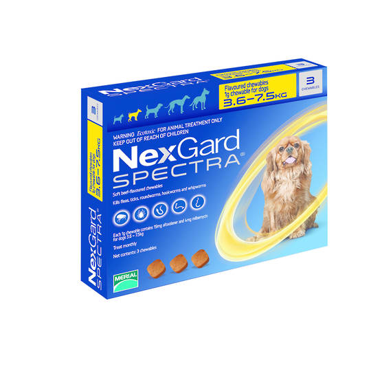 NexGard Chewable Flea Treatment for Small Dogs (Blue / 28.3mg x 3)