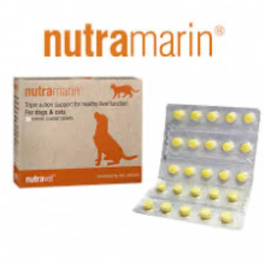 Nutramarin for Cats & Dogs Liver Function – 60 enteric coated tablets