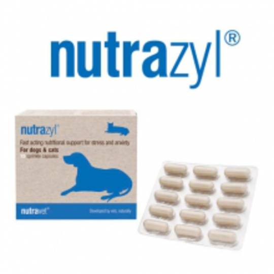 Nutrazyl for Cats & Dogs Stress & Anxiety- 45 capsules (3 x 15 capsule packs)