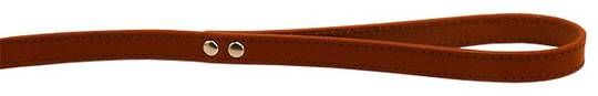 Leather Stitched Lead Cognac (16mm x 100cm)