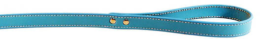 Leather Stitched Lead Aqua (13mm x 100cm)