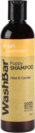 WashBar 100% Natural Puppy Shampoo - Argan and Lavender - 250ml