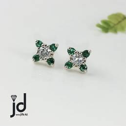 Emerald Snowflakes