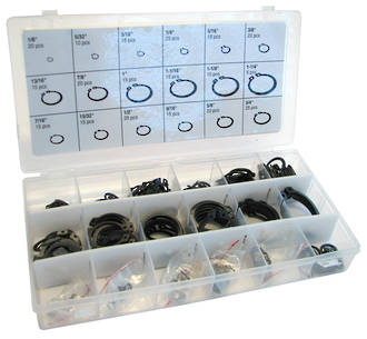 300PCE EXTERNAL SNAP RING ASSORTMENT