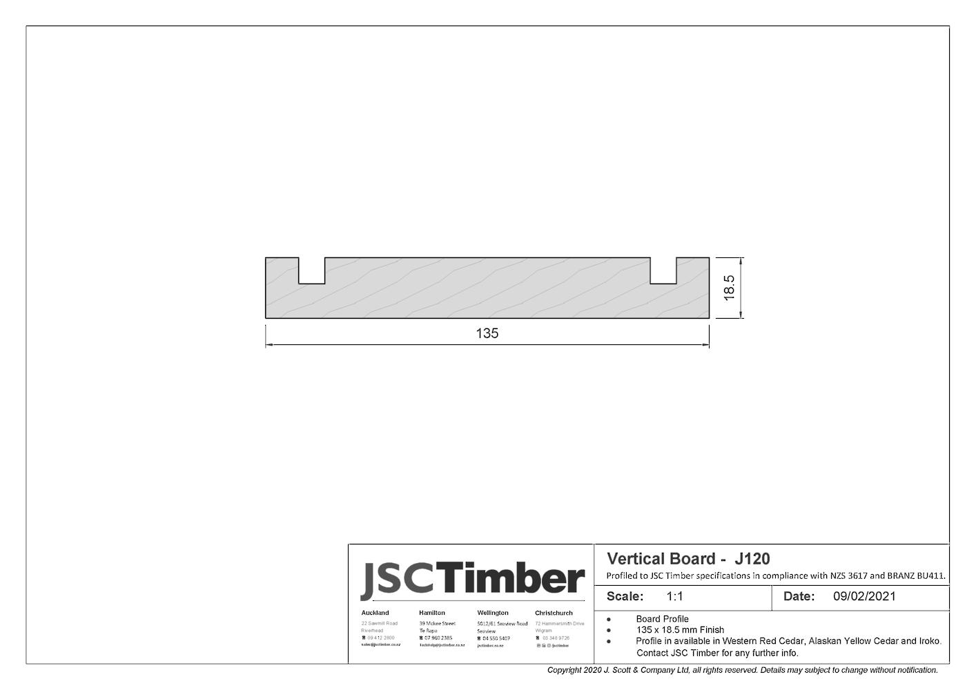 J120 Board and Batten Weatherboard