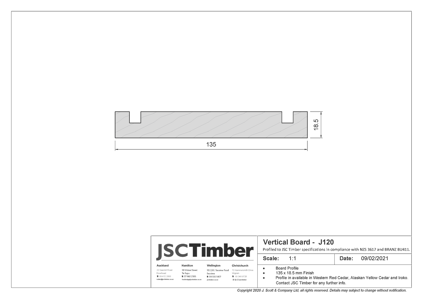 J120 Board and Batten Weatherboard