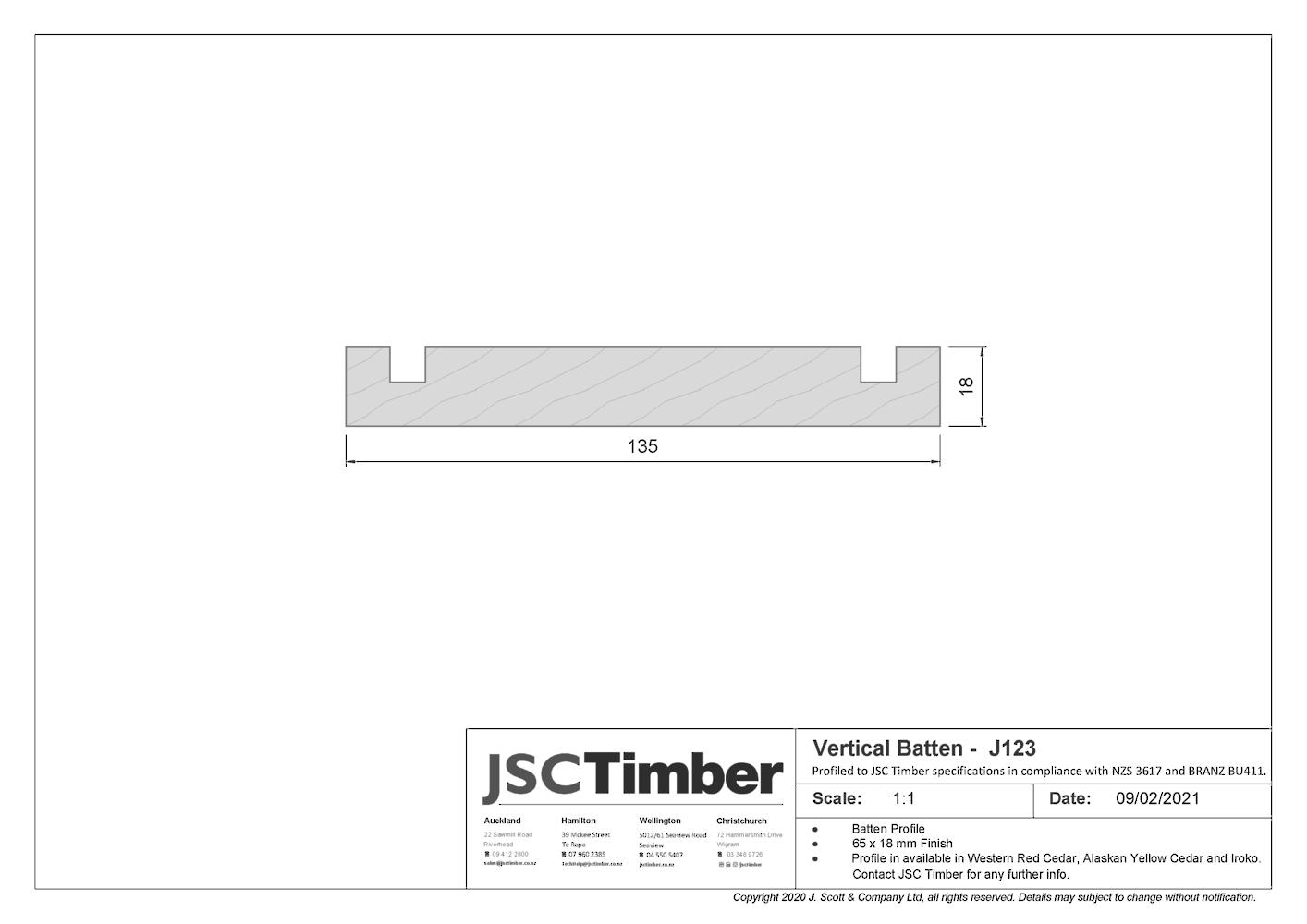J123 Board and Batten Weatherboard