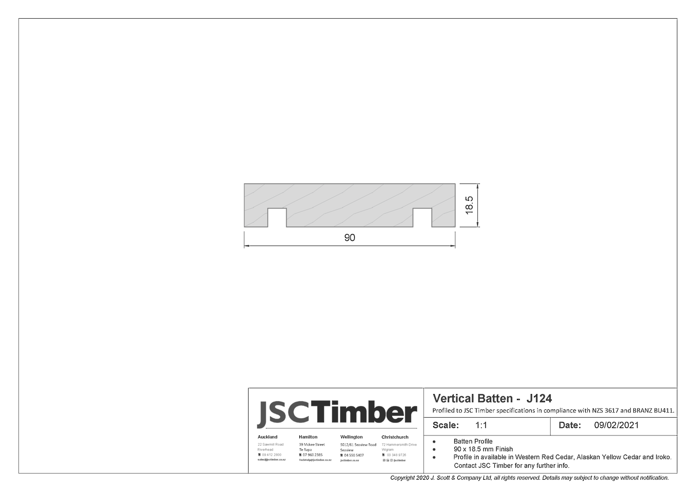 J124 Board and Batten Weatherboard
