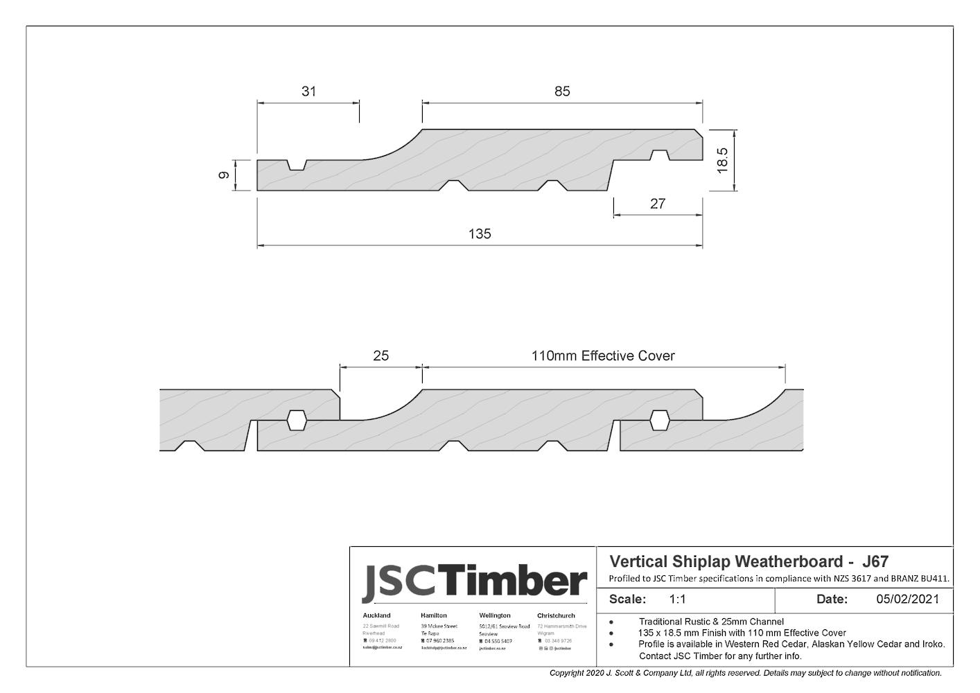 J67 Rusticated Weatherboard