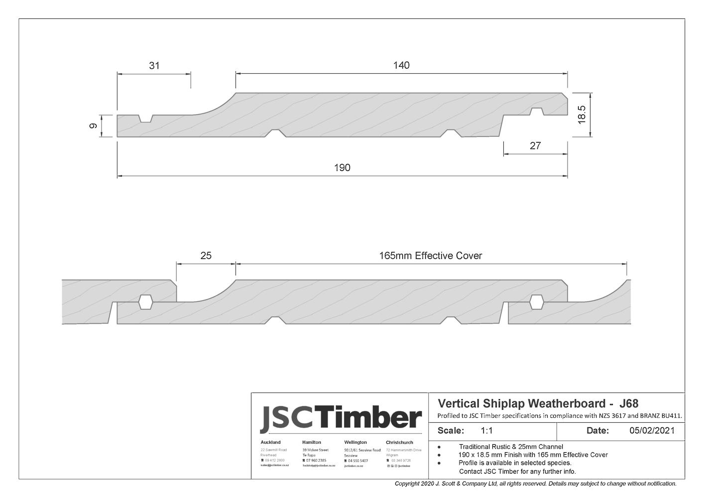 J68 Rusticlad Weatherboard