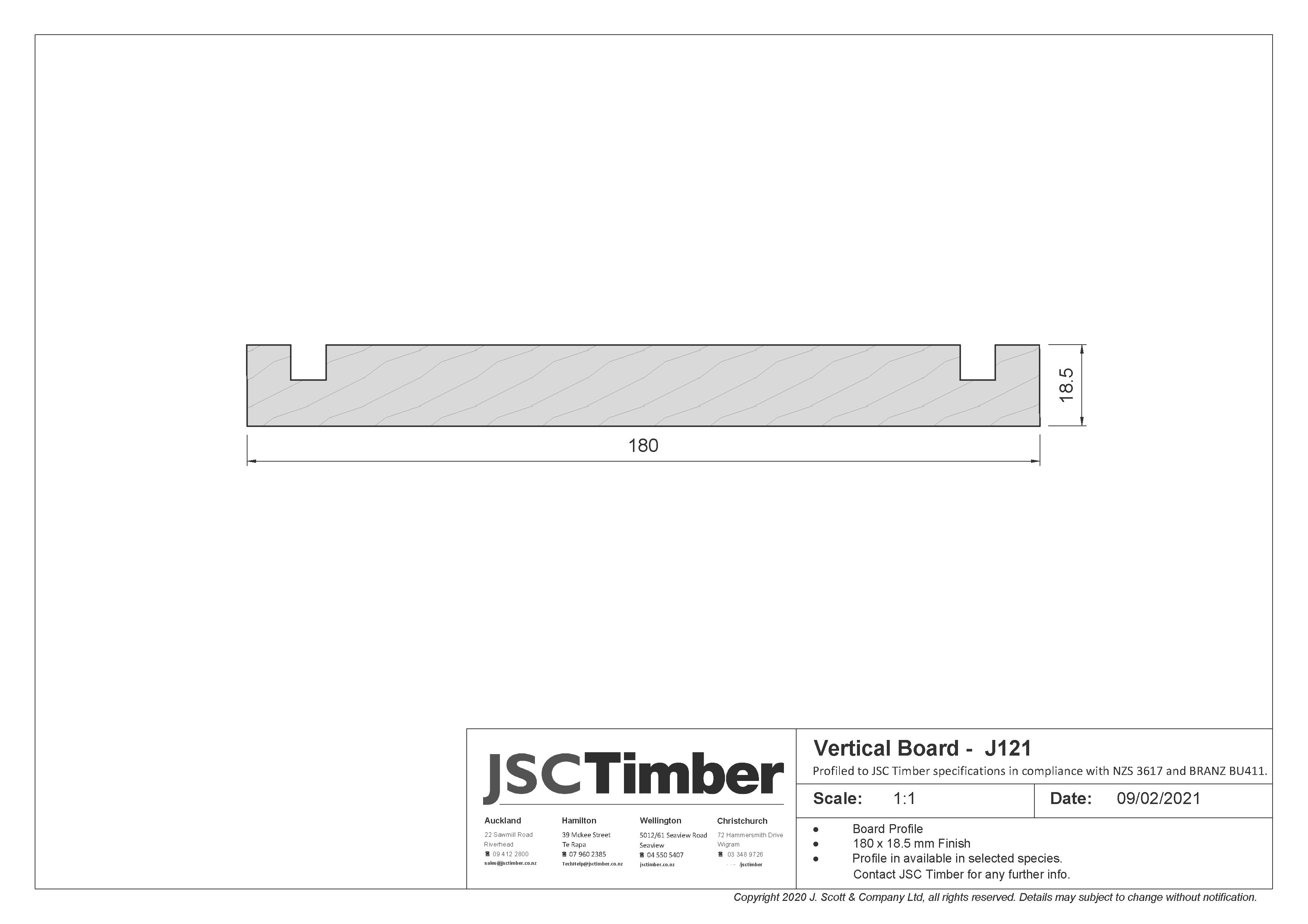 J121 Board and Batten Weatherboard