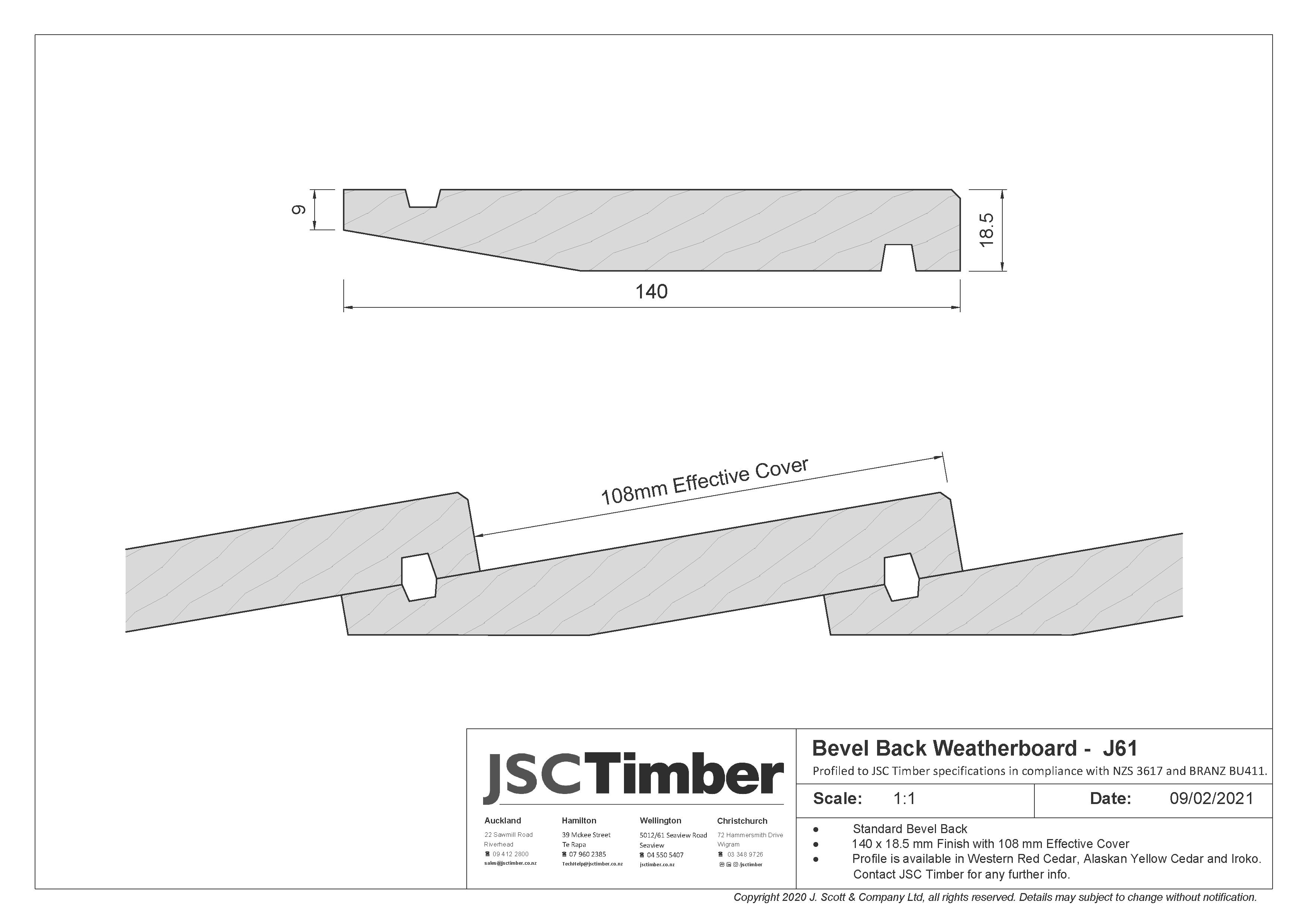 J61 Bevel Back Weatherboard