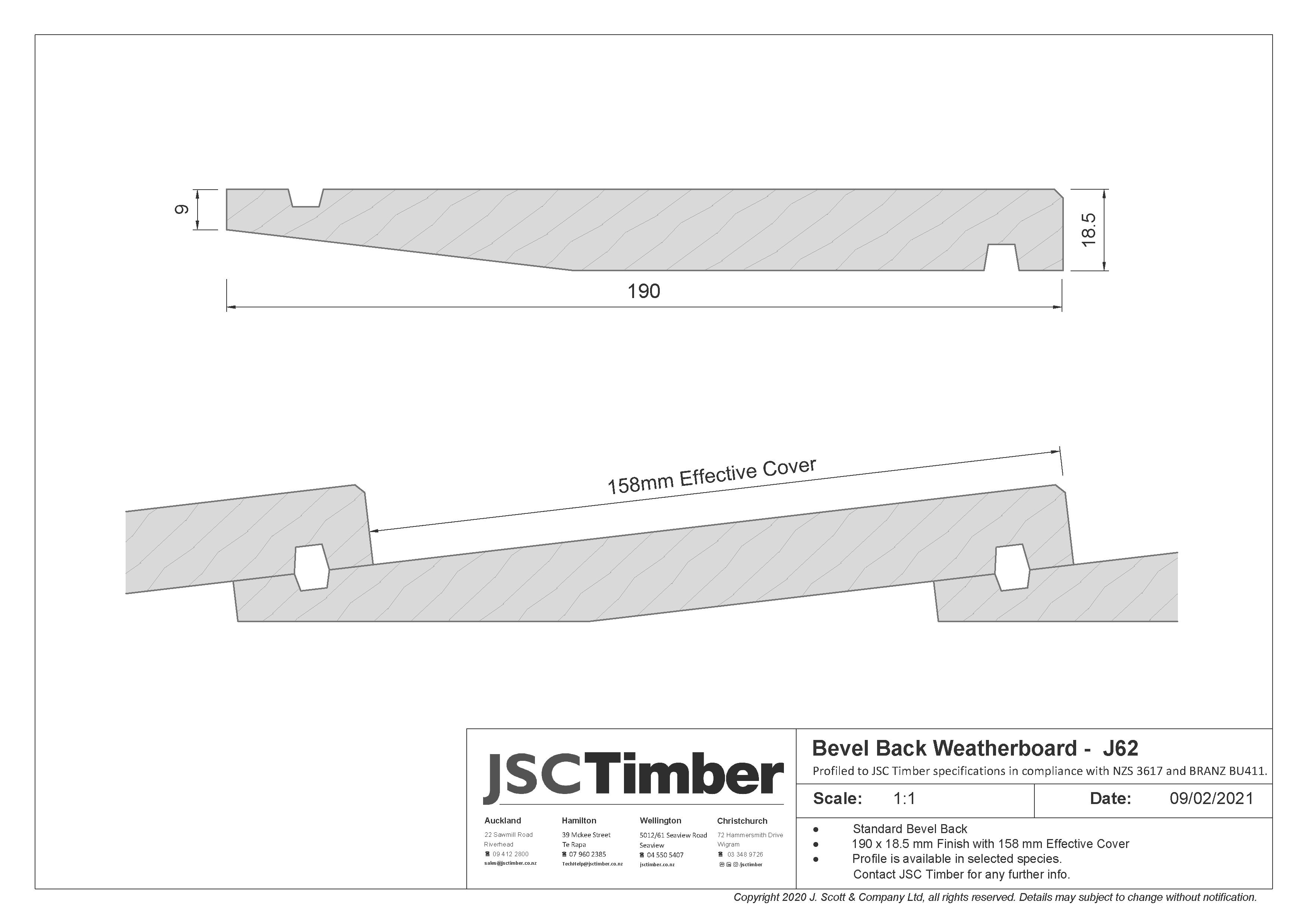 J62 Bevel Back Weatherboard