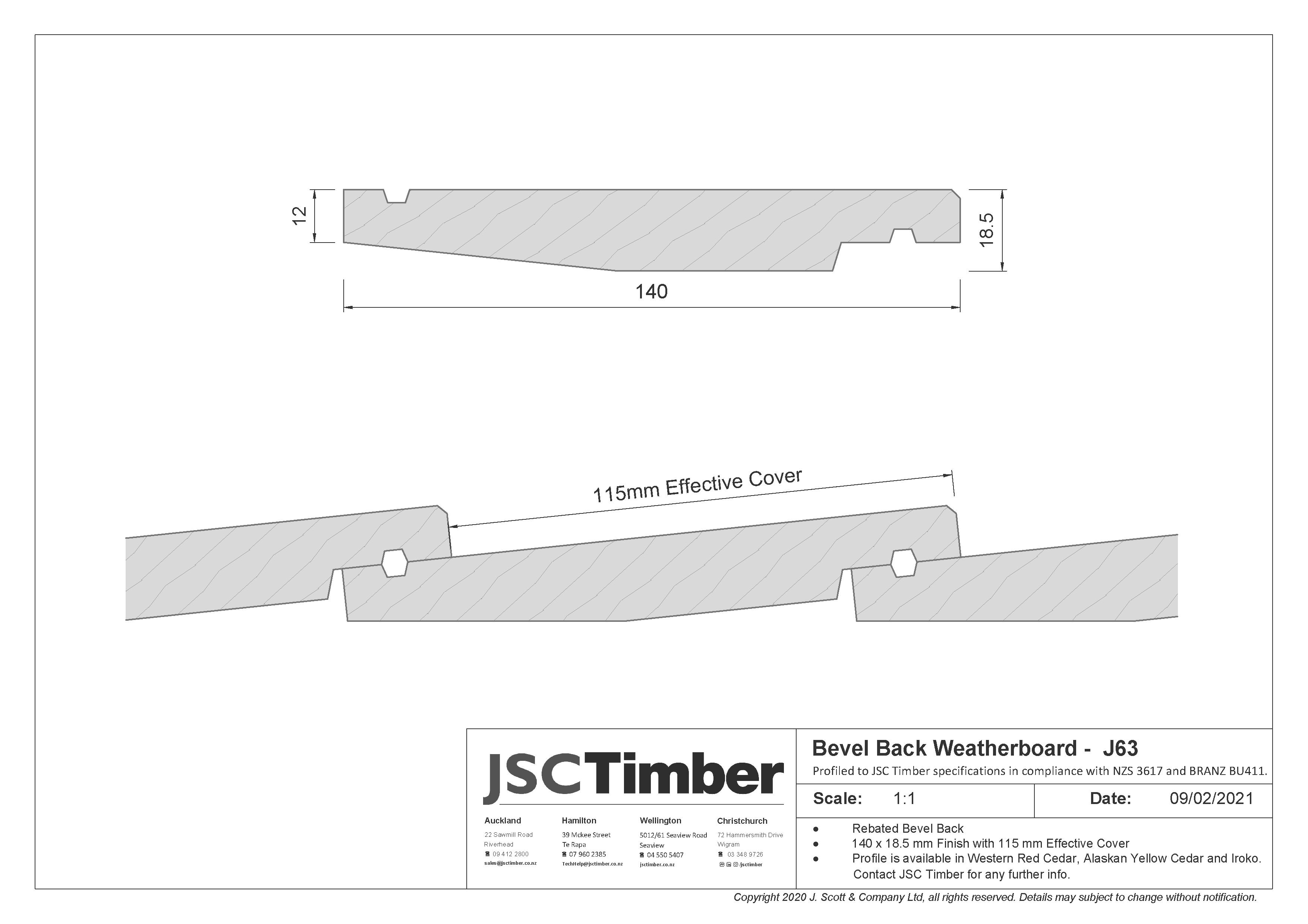 J63 Bevel Back Weatherboard