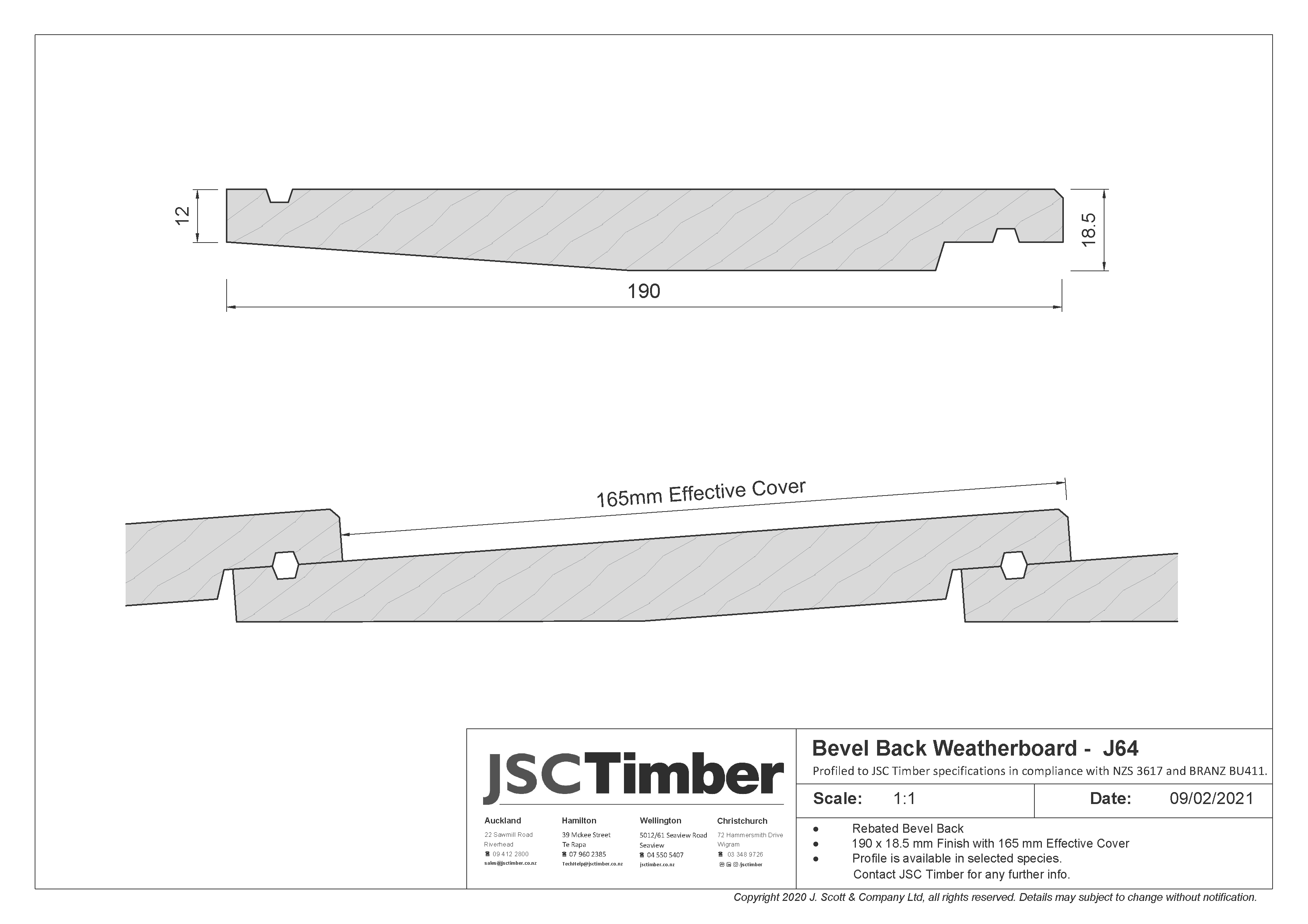 J64 Bevel Back Weatherboard