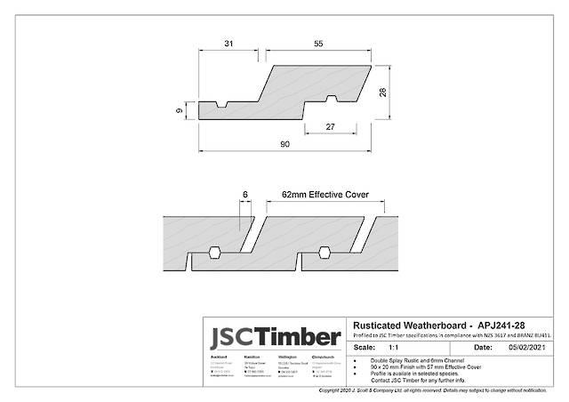 APJ241-28 Rusticated Weatherboard
